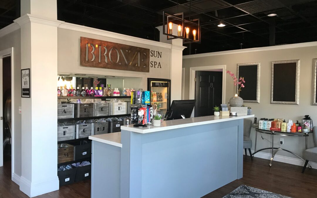 Modern upscale atmosphere and interior at two tanning locations
